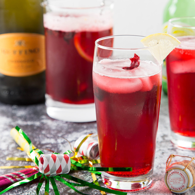 Hibiscus Ginger Prosecco Punch | The Missing Lokness