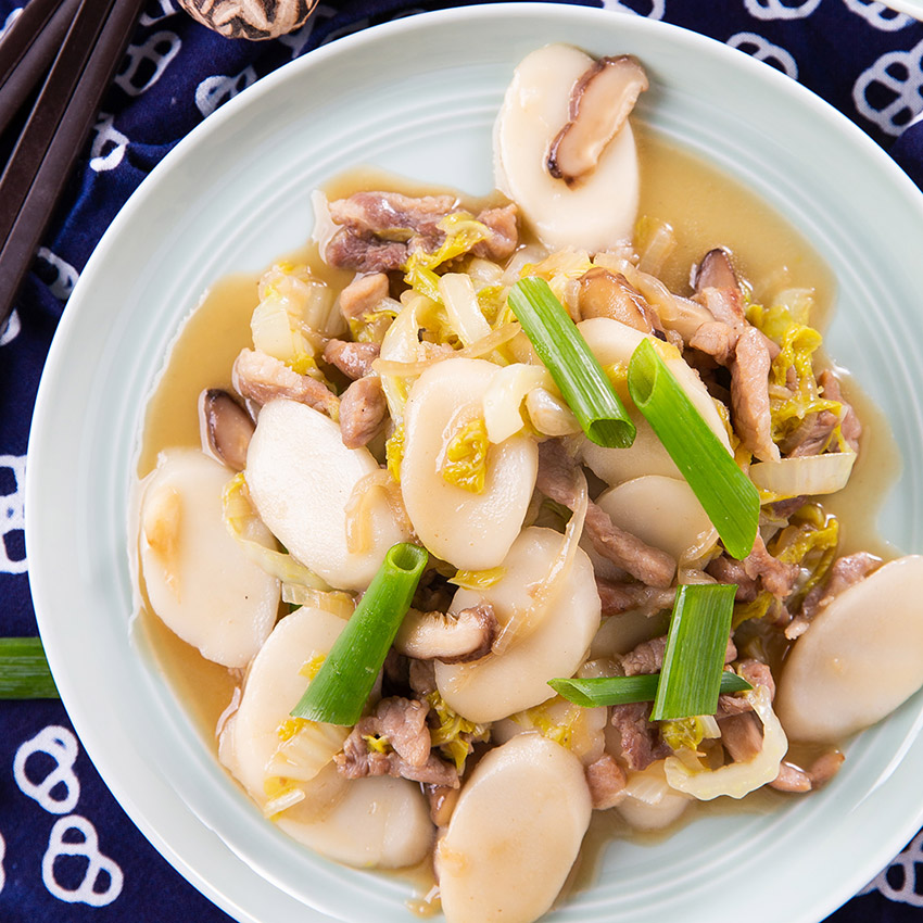 Stir Fried Rice Cakes With Pork The Missing Lokness