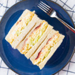 Japanese Egg Salad Sandwich with Bacon and Coleslaw
