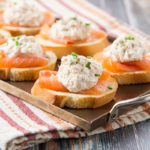 Tuna Meets Salmon Mini Toasts
