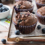 Double Chocolate Blueberry Muffins