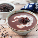 Black Glutinous Rice and Coconut Milk Dessert Soup