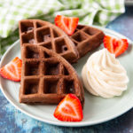 Chocolate Waffles with Kahlúa Mascarpone Cream